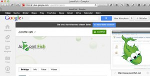JoomFish page on G+ including individual URL